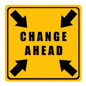 Change ahead in the market.